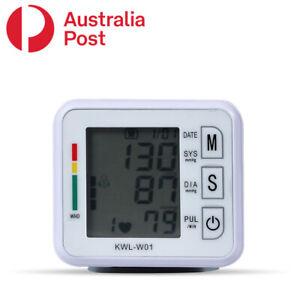 Digital Wrist Blood Pressure Monitor Pulse Rate Heart Beat Rate