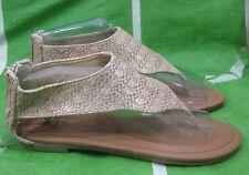 verano Beis / Tono de piel zapatos mujer Romano Sandalias Estilo Gladiador Size