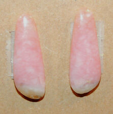 Peruvian Pink Andean Opal Cabochons pair 23x9mm with 3mm dome (2058)