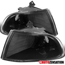 For 1992-1995 Honda Civic 2Dr 3Dr Black Corner Turn Signal Lights Parking Lamps
