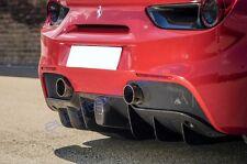 Ferrari 488 GTB / Spider Carbon Fiber Rear Diffuser + center fog light cover NEW