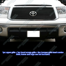 Fits 2010-2013 Toyota Tundra Black Billet Grille Grill Insert Combo