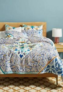 Anthropologie Elspeth Quilt Multicolor Size Queen
