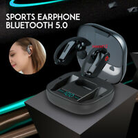 PowerHBQ Pro LED Bluetooth 5.0 Earphones TWS Wireless Earhook Waterproof Earbuds