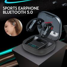 PowerHBQ Pro LED Bluetooth 5.0 Earphones TWS Wireless Earhook Waterproof Earbuds