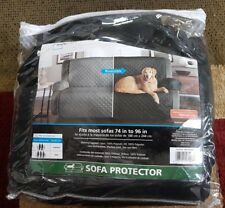 Pet 3-Seater Sofa Cover Set Reversible Covers dog cat Protector Slipcover Black