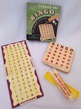 Vintage DE LUXE FINGER-TIP BINGO - No. 300 Complete 6 Cards
