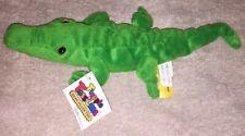 Vintage GANZ 1996 Jerry Alligator Plush Green Stuffed Animal Crocodile w Tag