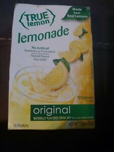 True lemon packets Lemonade 10 packs 10 calories made from real lemons B1