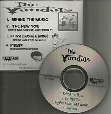 THE VANDALS behind the Music w/ INTERVIEW & CAREER Sampler PROMO DJ CD single
