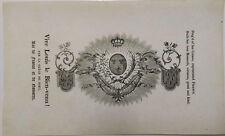 Legitimisme- LOUIS XVIII, Roi de FRANCE- 2 gravures