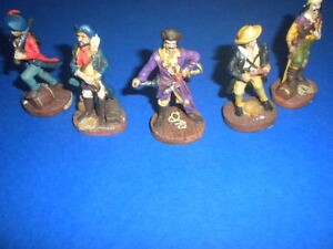 5 PIRATES ceramic 2.5 inches hand painted American Gift Corporation RARE LOT 3