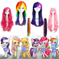 My Little Pony Twilight Sparkle Rainbow Dash Rarity Long Cosplay Wig Ponytails