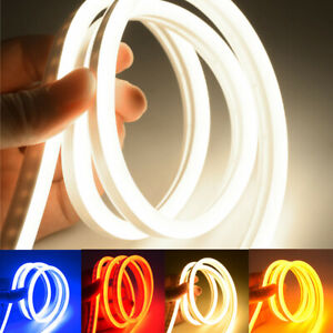 DC 12V Flexible LED Strip Waterproof Neon Lights Silicone Tube 1/3/5m Lamp Bar
