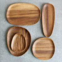 Acacia Wood Wood Plate Solid Wood Fruit Plate Snack Plate Hold Food Storage Tray