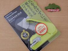 Kokuyo Japan Harinacs Press Holeless Staple Free Stapler Sln Mph105g Green