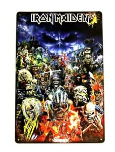 New Iron Maiden in Concert Tour Tin Poster Sign Man Cave Vintage Ad Look Eddie 1