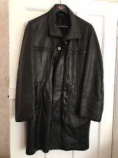 "*CORTIGIANI* men's designer coat in soft, black Vegan leather 40"" chest"