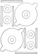 A4 LASER CD LABELS - 98211 - 2 PER PAGE - 118mm DIA - 100 SHEETS