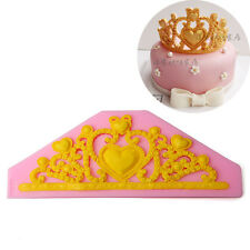 3D Princess Crown Silicone Fondant Mold Cake Decorating Baking Diy Mould Tool