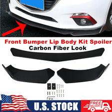 Front Bumper Lip Splitter Spoiler Diffuser Protector Set For Audi For A4 For S4