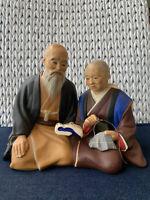 Vintage Hakata Urasaki Clay Figurine