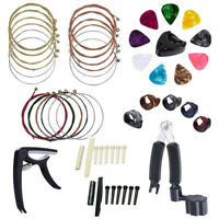 Guitar Accessories Kit 34 PCS Including Picks Capo Acoustic Strings Winder Bone