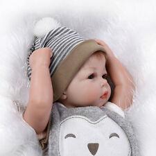 """21"""" Handmade Vinyl Silicone Reborn Baby Dolls Lifelike Doll Boy Girl Cloth Body"""