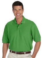 Izod Men's 100% Cotton Two Button Short Sleeve Drop Tail Pique Polo Shirt. 99299