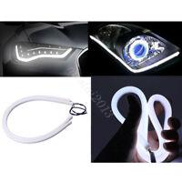 2x 60CM LED White Car DRL Daytime Running Lamp Strip Flexible Soft Tube Light