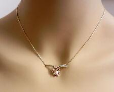 "Beautiful 14k Yellow Gold Diamond Ruby Pearl Chain Necklace 16.75"" long"