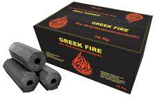 10kg Greek-fire Holzkohlebriketts eiche buche Hartholz