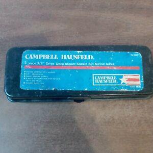 Campbell Hausfeld 3/8 in Deep Drive SAE/Metric Socket Set 9 Piece Sockets Tool