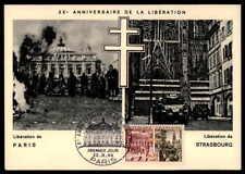 FRANCE MK 1964 WW2 BEFREIUNG PARIS STRABOURG PANZER TANK MAXIMUMKARTE MC CM m955