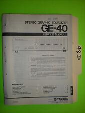 Yamaha ge-40 service manual original repair book stereo eq graphic equalizer