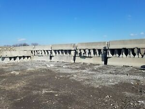 Used 12' Long Concrete Jersey Barriers Ohio