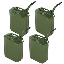 4pc 5 Gallon Jerry Can Fuel Steel Green Military NATO Style 20L Storage Tank