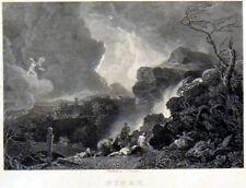 Niobe 1836 John Charles VARRALL-Richard Wilson-Apollo Antico Incisione