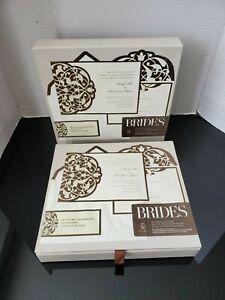 Gartner Studios Brides Deluxe Invitation Kit Brown Ivory 30 Count Set Of 2 New