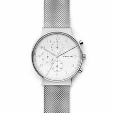 Skagen Mens Wrist Band Watch SKW6361 Ancher Silver