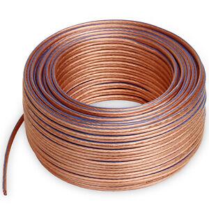 25m Lautsprecherkabel 2x4,0 mm² 99,99% OFC Voll Kupfer Litze 0,1mm Hochflexibel