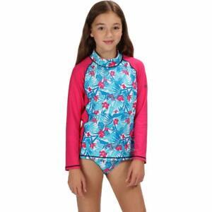 Regatta Hobey Girls Kids Beach Swim UV Sun Protection Rash Vest. RRP £20