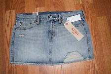 abd2d7a3e DESTROYED Levis Jeans Women 28 S M Distressed Blue Denim Mini Skirt 4 6