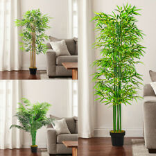 Artificial Palm Tree Plant Pot Home Office Bamboo Tropical Outdoor Fake Decor UK