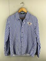 London by Crux Men's Long Sleeve Snap Button Shirt Size 100 Blue Stripe