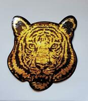 Large Iron On Black And Gold Sequin Tiger Patch - IR2