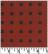 Shadow Play  Woolies  Flannel - Red Black Dots  F18145-R2