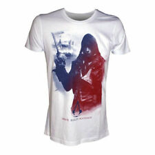 ASSASSINS CREED Unity Arno Freedom Equality Brotherhood XL T-Shirt Adult White