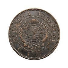 KM# 32 - 1 Centavo - Argentina 1891 (F)