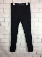 Mossimo Black Mid rise cigarette Stretch Skinny Jeans Womens Size 4 Long